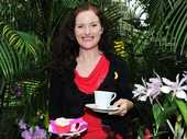 Julie Miller at the Botanical Gardens Orchid House's Biggest Morning Tea raising money for cancer research.