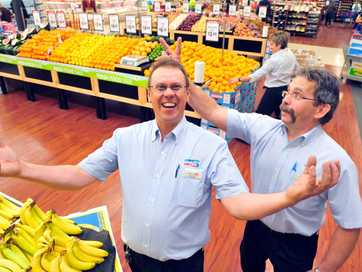 A selection of photos taken at IGA Cornetts in North Bundaberg who reopened their doors after the 2013 flood.