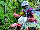 Tauranga's Reece Burgess led a KTM 1-2-3 to the podium at round two of the Dirt Guide Cross-Country series near Tokoroa on Saturday and also thrust himself into the top spot with just one round to go.