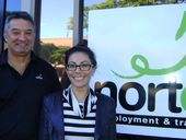 ON BOARD: Nortec's Rod Huxley (Grafton branch manager) and Angela Van Den Boom (Yamba branch manager). Nortec has signed on as award sponsors.