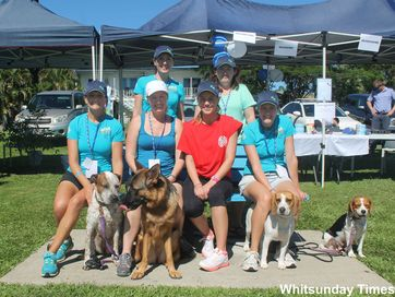 DOG lovers from right across the Whitsundays banded together to raise more than $4000 at the RSPCA's Million Paws Walk on Sunday with this figure expected to rise as final donations come.