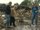 A SURVIVOR of the massive tornado that struck Oklahoma got a much needed piece of good news when she was unexpectedly reunited with her missing dog.