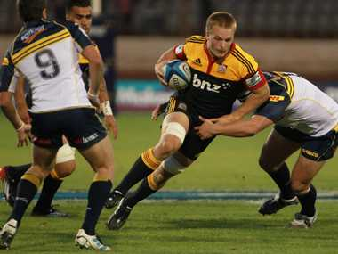 Chiefs' blindside flanker Sam Cane returns from a back injury and will play from the bench.