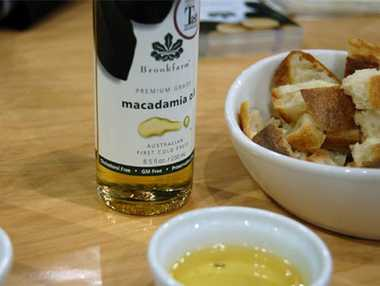 Macadamia oil is used in a range of products, from fine foods to beauty treatments.