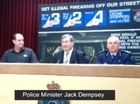 Police Minister Jack Dempsey speaks at Queensland's gun amnesty