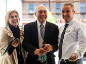 L-R Karen Hogan, Federal Shadow Minister for Infrastructure and Transport Warren Truss and The Nations Candidate for Page, Kevin Hogan. Photo Patrick Gorbunovs / The Northern Star
