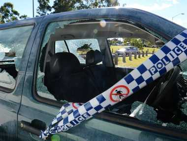 HIT: A car at Outridge St, near the Ipswich Hospital, was trashed.