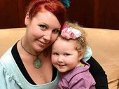 ROLLING WITH IT: Lismore mum Sasha Fox and her daughter Chiana Taylor-Fox, 3.
