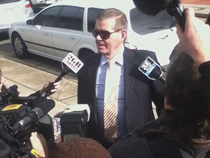 Peter Slipper outside Canberra Magistrates Court