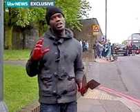 One of the alleged attackers captured on camera by ITV.