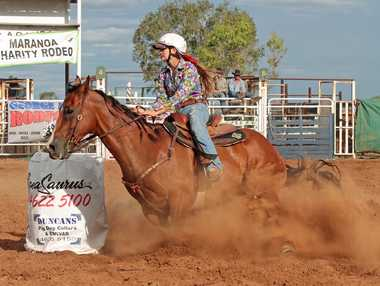 It's a long way from the Maranoa Charity Rodeo: Teal Ayers is now off to compete in USA.