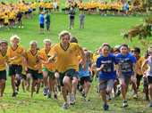 Otumoetai Intermediate cross country start.