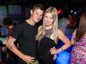Tye Cobbin and Alisha Coyne at Cocktails Nightclub on Friday night. Photo: Nick O'Sullivan / The Queensland Times