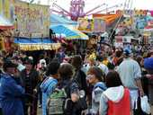 Crowds pack the first day of the Fraser Coast Show.