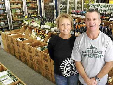 LOCAL: Sue Johnston and Peter Hitchings from the East Ballina Boozatorium.