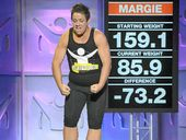 Margie Cummins in the 2012 The Biggest Loser television series.