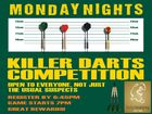 Monday Night Darts from 6:45pm great prizes!