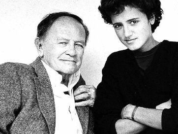 Byron Bay woman Alex Mankiewicz with her father Joseph L Mankiewicz.