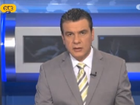 VIEWERS who tuned in to watch a news broadcast in Greece earlier this week were greeted by pornographic footage on the monitor behind the anchor.