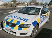 A man who smashed a police patrol car windscreen with a dive cylinder on Sunday appeared at Napier District Court yesterday and asked if he could have his cylinder back.