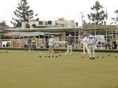 THE doors are closed but the bowls continues at the Lismore Heights Bowling Club while members work out a way to save their club.