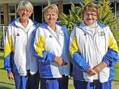 CATERINA Danelon, Lyndall Riordan and Jan Donadel are celebrating after claiming nail-biting success at Lismore Workers Heights Women's Bowling Club.