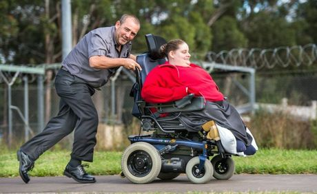 FUND RAISER: Ken Hoad will be pushing a wheel chair from Urunga to Coffs to raise funds for his sister Emma. Photo: Trevor Veale / The Coffs Coast Advocate
