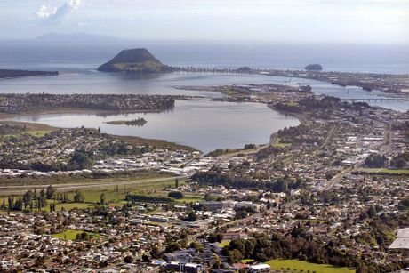 The average sale price in Tauranga had hardly moved.