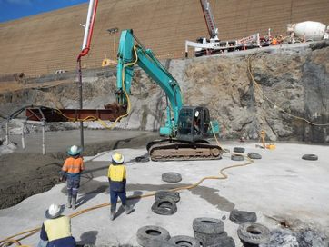 A selection of photos taken of the repair process undertaken at Paradise Dam.
