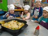 A FOUR-week course being offered by Blue Hills College at Goonellabah is providing preschooler chefs with a taste of what is required to prepare a meal.