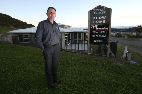 Tony O'Brien, of Fowler Homes, is noticing an influx of Aucklanders visiting the company's Lakes showhome.