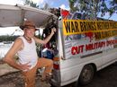 PEACE activist arrives in Rockhampton to begin organising resistance to the upcoming Talisman Sabre military exercises.