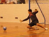 Te Puke High School's futsal keeper Buck Tapuke.