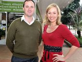 IMPASSIONED PLEA: NSW Greens MLC Jeremy Buckingham and Greens senator Larissa Waters in Lismore yesterday.