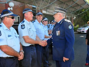 A selection of photos taken at Superintendent Rowan Bond's farewell at the Bundaberg Police Station.