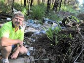 ECOLOGICALLY EGREGIOUS: Clean up Australia Day co-ordinator Joe Jurisevic at a bush dump site.