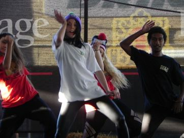 Hip hop dancers from Sole Studios perform at the Sunshine Coast Agricultural Show