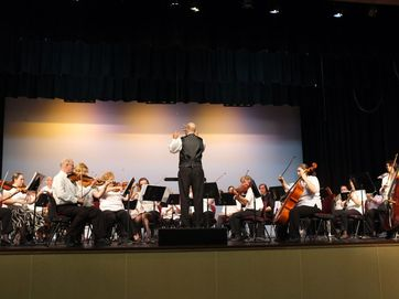 Bundaberg Symphony Orchestra during A Gala Concert at the Shalom Performing Arts Complex.