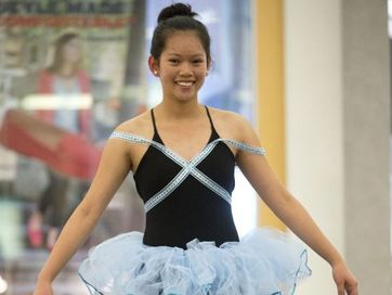 Creations from fashion design workshops held during the April school holidays go on display at a Grand Central Shopping Centre fashion parade organised by the Downs Industry Schools Co-Op.