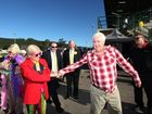 Clive Palmer on show at the Sunshine Coast Agricultural show on Friday