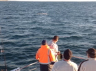 Hervey Bay fishers get surprise visit from whale