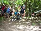 Rotorua's Dirk Peters finished in the top 10 at the UCI world mountain bike event.