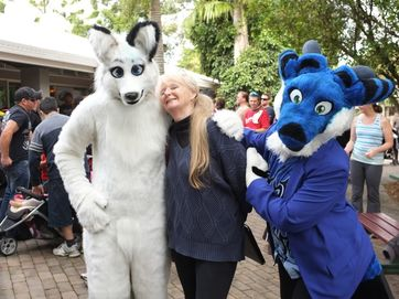 Furries in the Botanic Gardens.