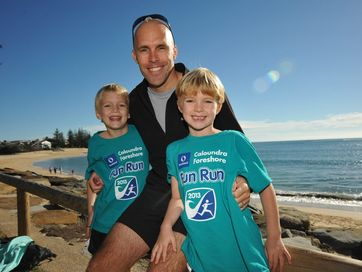 Moffat Beach finish of the Caloundra Foreshore Fun Run.