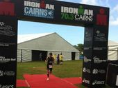 Cathy Milgate at the Cairns Ironman triathlon at the weekend.