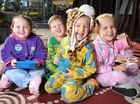 THE children of C&K West Moreton Community Kindergarten at Karrabin were certainly dressed for the weather on Tuesday.