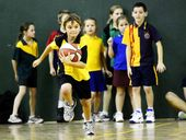 EIGHT schools, featuring 340 primary school children, enjoyed last Friday's fun day at the Ipswich basketball stadium.