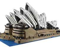 Sneak peek image of the supersized LEGO model of the Sydney Opera House.