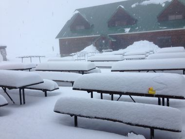 This photo posted on their Facebook page shows the snow coverage at Cardrona Alpine Resort, near Wanaka.