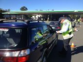 Police conduct an RBT operation at the entrance of Caboolture BP.
